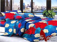 ✅ Двуспальный Евро комплект постельного белья (Поликоттон) TAG B252-1