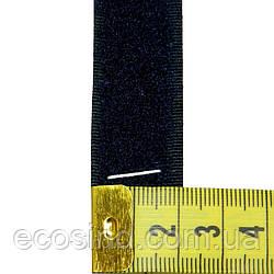 058 чернильный  2,5 см х 25м. лента контакт (липучка) пришиваная Veritas (ВЕЛЛ-044)