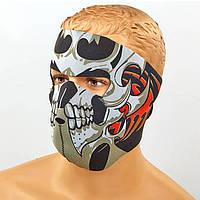 Маска лицевая ветрозащитная Tribal Skull неопрен MS-4344-4