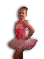 Купальник - пачка для гимнастики и танцев. Розовый. Rivage Line 0215В