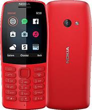 Кнопочный мобильный телефон с камерой и интернетом на 2 sim Nokia 210 DS Red