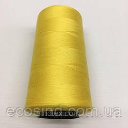 Нитка швацька 100% PE 40/2 кол S-001 жовтий (боб 4000ярдів) NITEX (ВЕЛЛS-001)