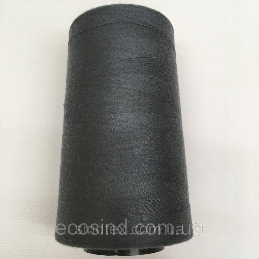 Нить швейная 100% PE 40/2 цв S-182 серый темный (боб 4000ярдов) NITEX (ВЕЛЛS-182)