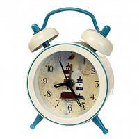 """Часы-будильник """"Морская романтика"""" (7.5*5.5*1.5см) *рандомный выбор дизайна, 004AK"""