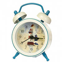 """Часы-будильник """"Морская символика"""" (7.5*5.5*1.5 см) *рандомный выбор дизайна, 007AK"""