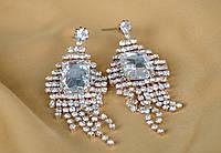 Свадебный элегантные женские серьги.Вечерний вариант.