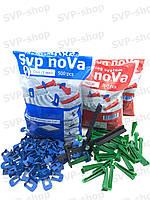 Система выравнивания плитки NOVA (Основа 1000шт 1мм + Клин 400шт + Инструмент)