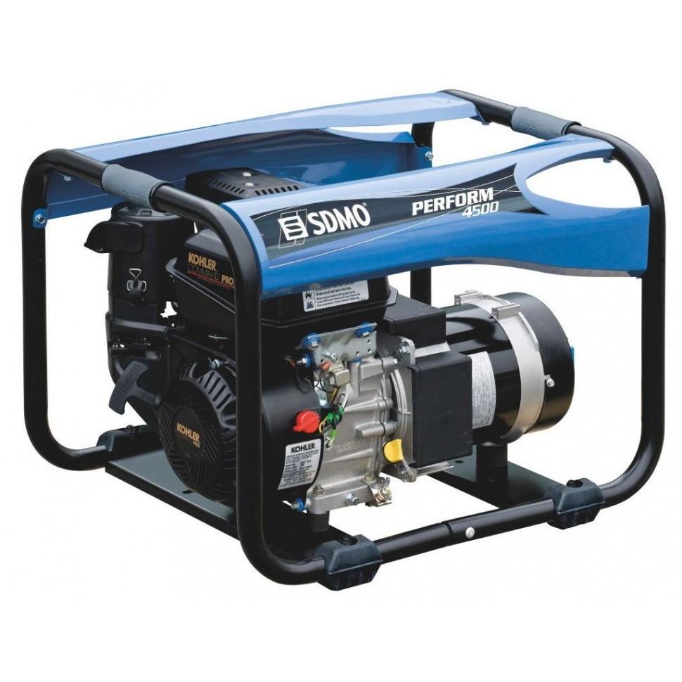 Однофазный бензиновый генератор SDMO Perform 4500 (4,2 кВт)