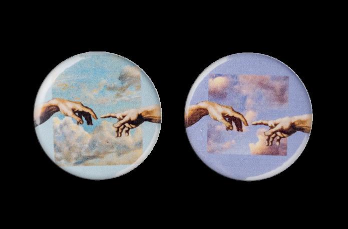 Магнитный двусторонний держатель для игл Сотворение Адама Микеланджело