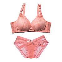 990599 Красивое нижнее белье для кормления грудью кружевное Розовое 75B, фото 1