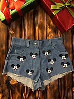 Женские шорты - Синие с Mickey Mouse