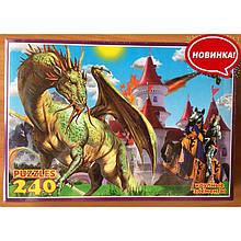 Пазлы 240-16 (Дракон с рыцарем)
