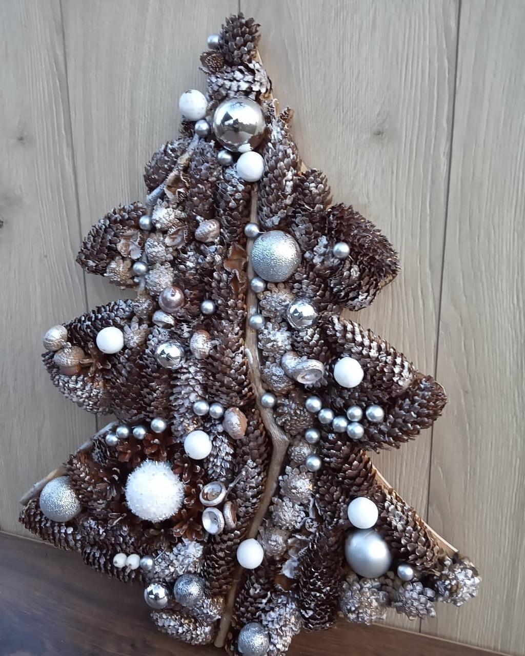 Декоративна Ялинка на стіну до новорічних свят 50 cм