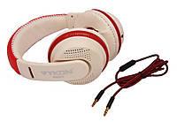 Накладные наушники Vykon MQ55 (белый,красный), фото 1