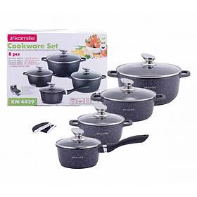 Набор посуды Kamille 9 предметов с прихватками КМ-4429