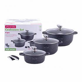 Набор посуды Kamille 7 предметов с прихватками КМ-4430