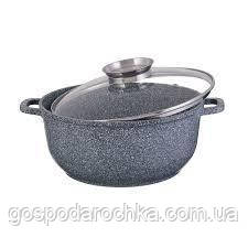 Казан Круглый 5.6 л 26 см Мраморное Покрытие EB-8119