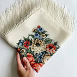 Весеннее пробуждение 1874-0, павлопосадский платок шерстяной  с шелковой бахромой, фото 8