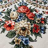 Весеннее пробуждение 1874-0, павлопосадский платок шерстяной  с шелковой бахромой, фото 5