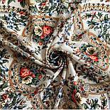 Весеннее пробуждение 1874-0, павлопосадский платок шерстяной  с шелковой бахромой, фото 7