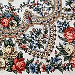 Весеннее пробуждение 1874-0, павлопосадский платок шерстяной  с шелковой бахромой, фото 4