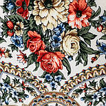Весеннее пробуждение 1874-0, павлопосадский платок шерстяной  с шелковой бахромой, фото 6