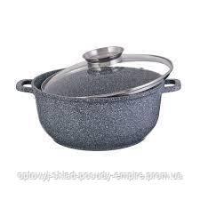 Казан Круглый 3.6 л 22 см Мраморное Покрытие  EB-8117
