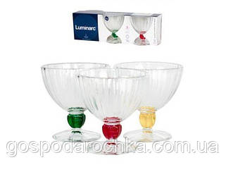 Набор креманок Luminarc Quadro Rainbow 300мл-3шт P1387