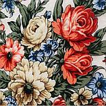Весеннее пробуждение 1874-0, павлопосадский платок шерстяной  с шелковой бахромой, фото 3