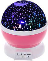 Ночник-проектор вращающийся детский Star Master Dream QDP01 звездное небо шар Pink (gr_006978)