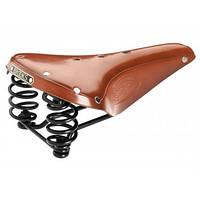 Велосипедное седло  BROOKS Flyer Black/Brown/Honey (005160)