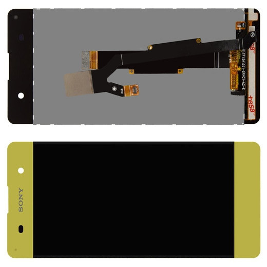 Дисплей Sony Xperia XA F3112 модуль в зборі з тачскріном, золотисто-лаймовий