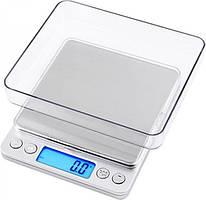 Профессиональные ювелирные весы до 3 кг Kronos (шаг 0.1) 2 чаши (bks_01538)