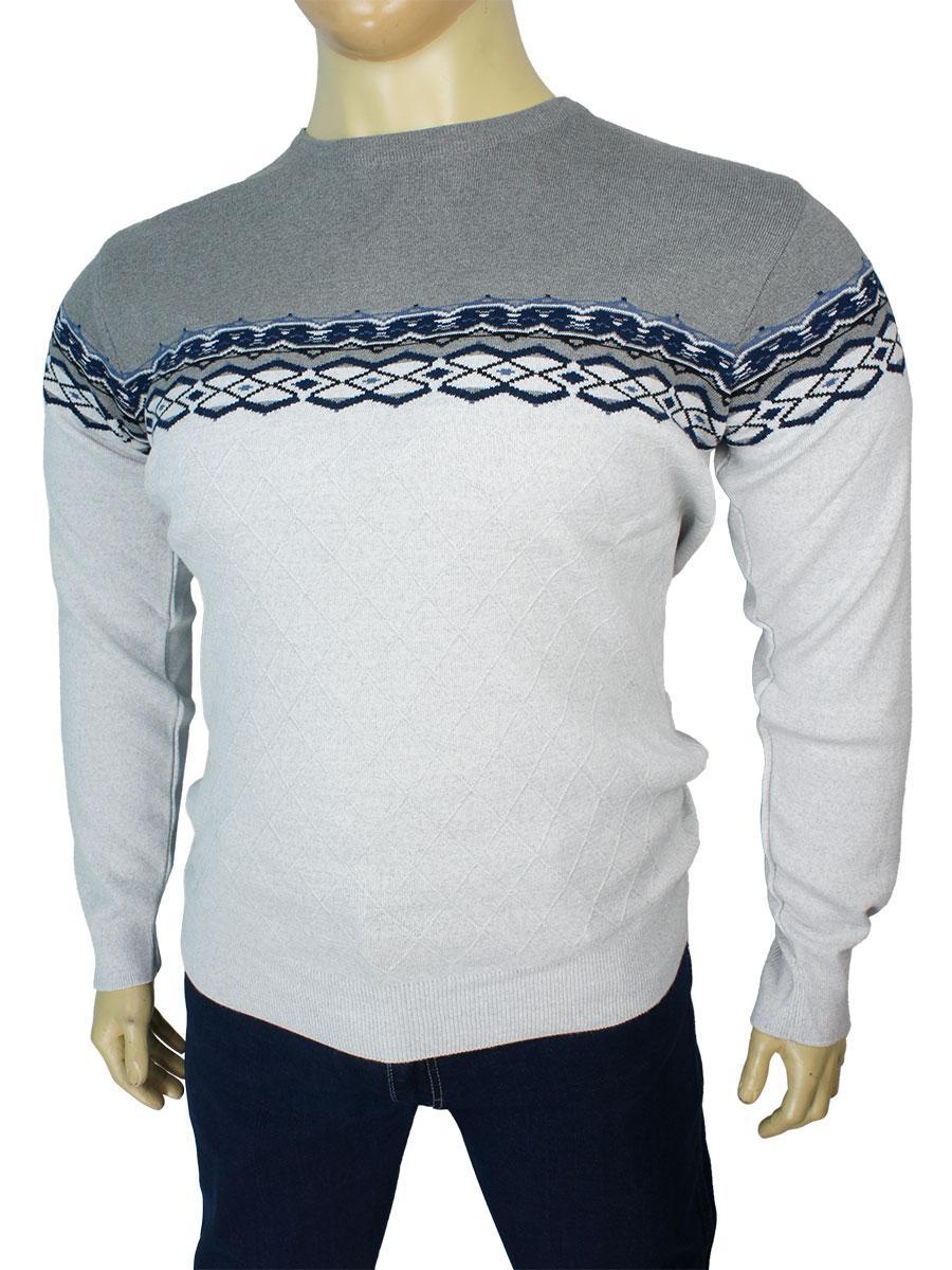 Чоловічий турецький светр Yamak 1096 antrasit у великих розмірах