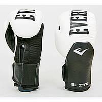 Перчатки боксерские кожаные на липучке EVERLAST MA-6757-W