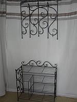 Кованый набор мебели в прихожую  -  09