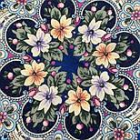 Весеннее пробуждение 1874-14, павлопосадский платок шерстяной  с шелковой бахромой, фото 6