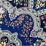 Весеннее пробуждение 1874-14, павлопосадский платок шерстяной  с шелковой бахромой, фото 7