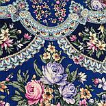 Весеннее пробуждение 1874-14, павлопосадский платок шерстяной  с шелковой бахромой, фото 4