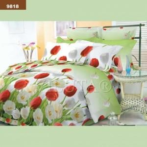9818 Двуспальное постельное белье ранфорс Viluta