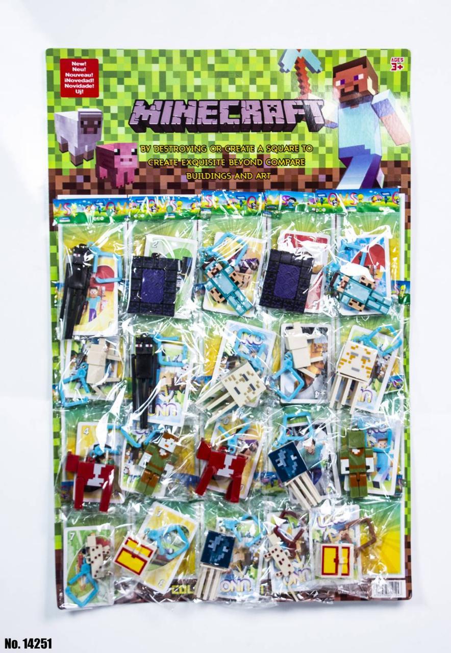 Фигурки Minecraft на листе 14251 оптом