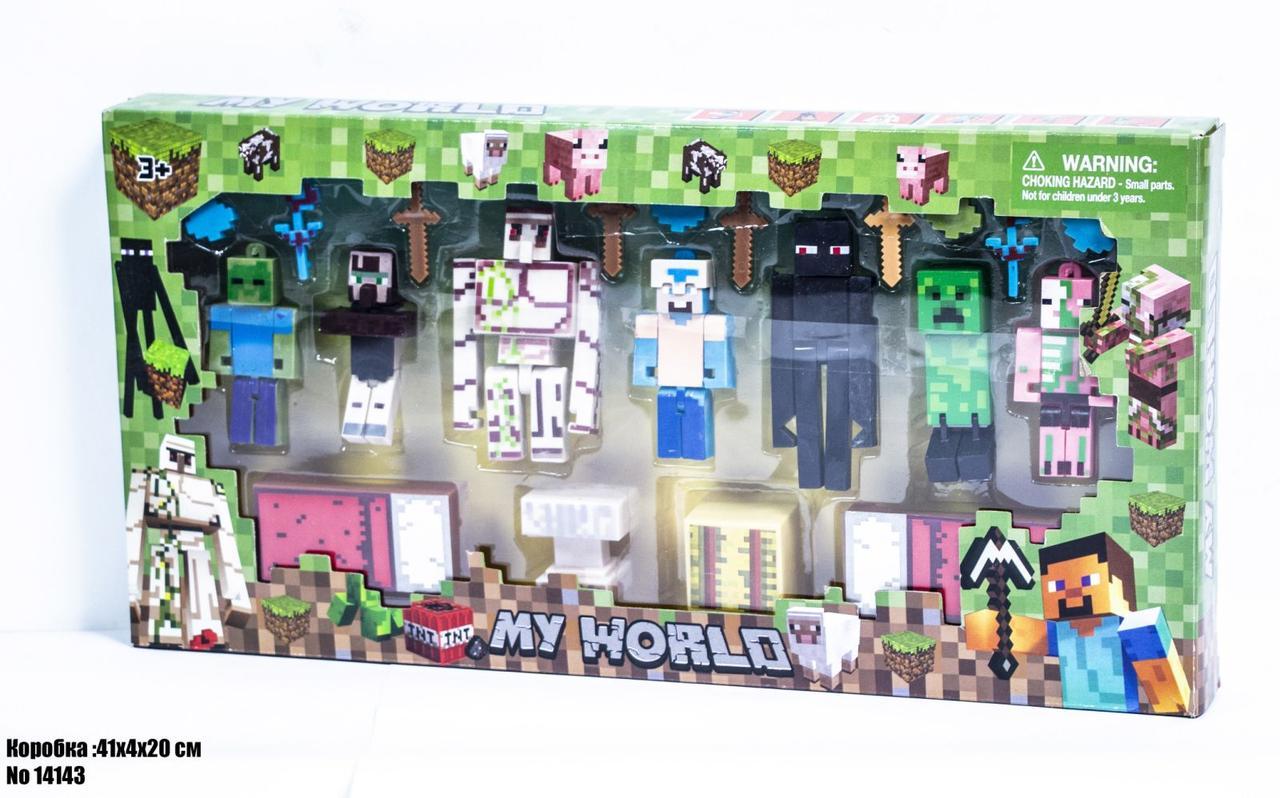 Фигурки Minecraft в блистере 14143