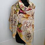 10730-2, павлопосадский платок из вискозы с подрубкой, фото 10
