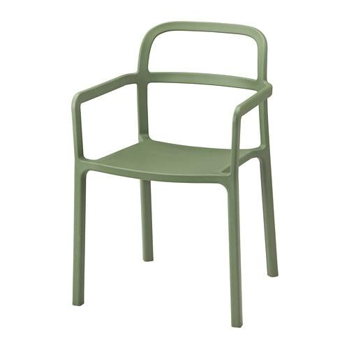 ИКЕА (IKEA) YPPERLIG, 403.465.80, Стул с подлокотниками, зеленый - ТОП ПРОДАЖ