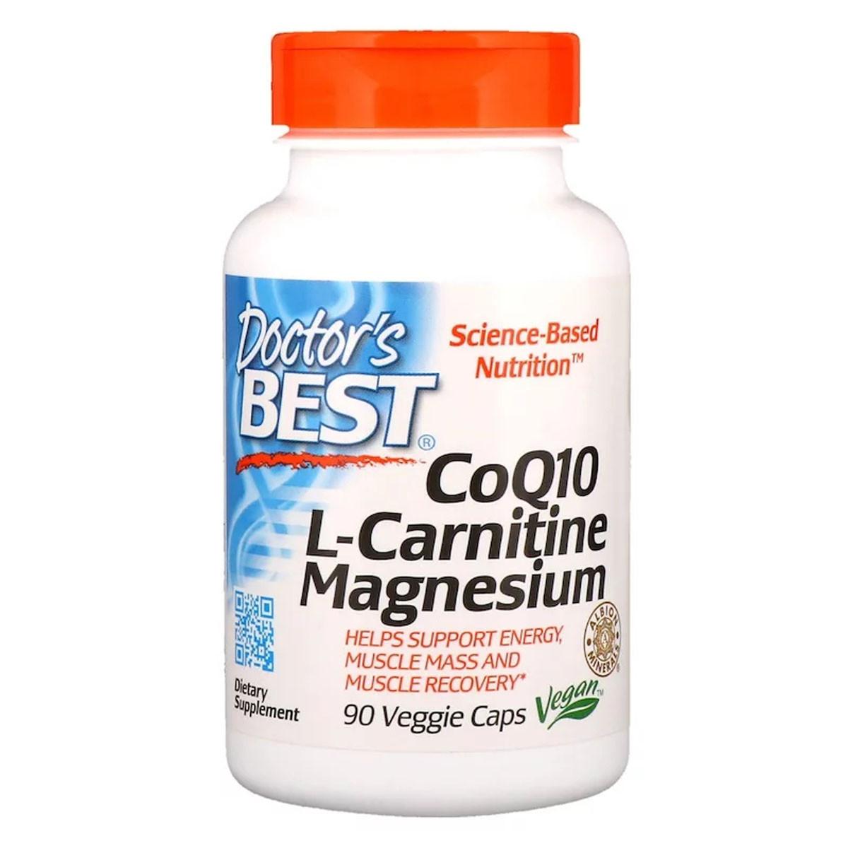 Коэнзим Q10, L-Карнитин и Магний, CoQ10 L-Carnitine Magnesium, Doctor's Best, 90 капсул