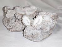 Пинетки тапки детские меховые зайчики кролики The White Company (размер 16, 0-6 мес)