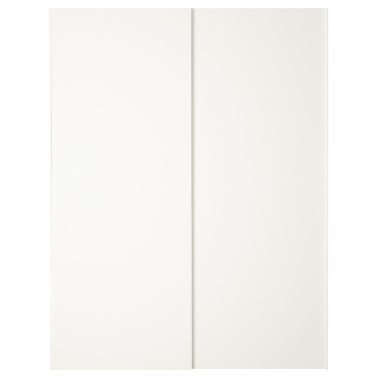 Пара раздвижных дверей IKEA HASVIK белый 150x201 см 803.911.32