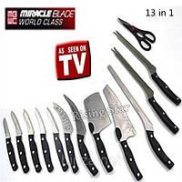 Набір ножів Miracle Blade 13in1, набір кухонних ножів, Чудо-ножі Мірекл Блейд, Міцні ножі (4361)
