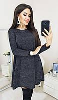 Женское ангоровое платье 1089 (42 44 46 48) (цвет черный) СП