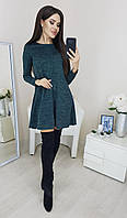Женское ангоровое платье 1089 (42 44 46 48) (цвет мор волна) СП